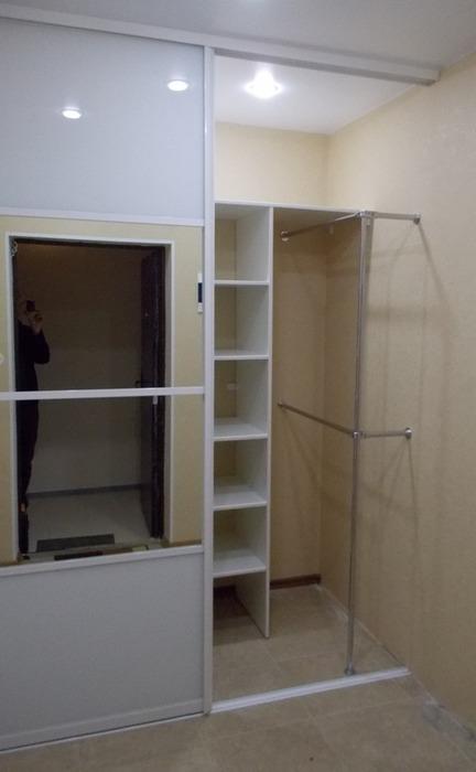 Белые шкафы-купе-Шкаф-купе с зеркалом «Модель 96»-фото2