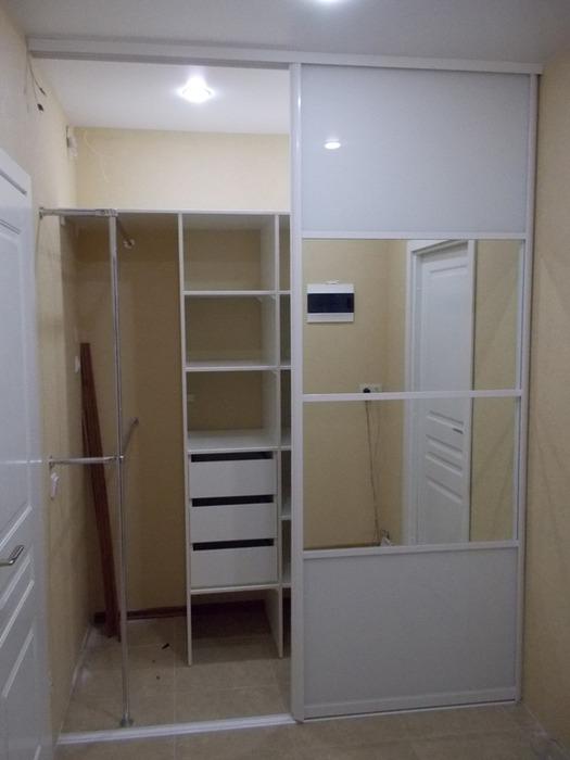 Белые шкафы-купе-Шкаф-купе с зеркалом «Модель 96»-фото3