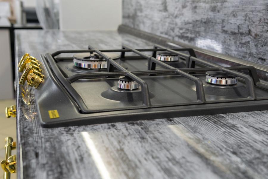 Белый кухонный гарнитур-Кухня МДФ в эмали «Модель 47»-фото7