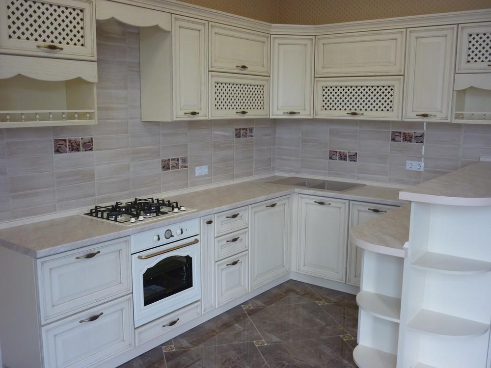 Акриловые кухни-Кухня МДФ в ПВХ «Модель 293»-фото3