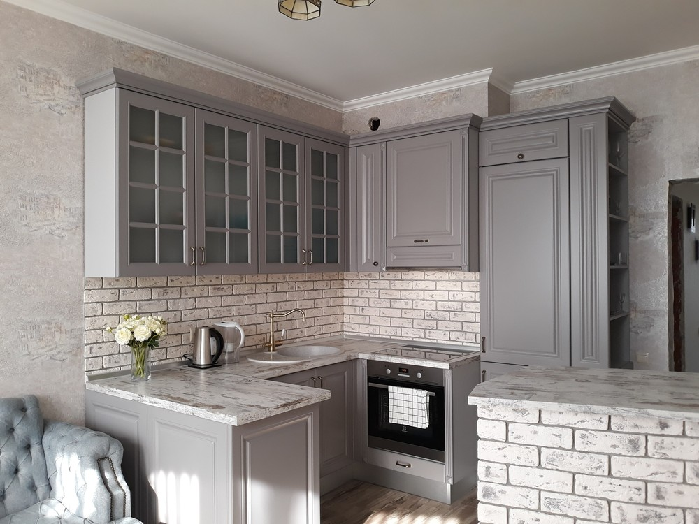Встроенная кухня-Кухня МДФ в эмали «Модель 281»-фото10