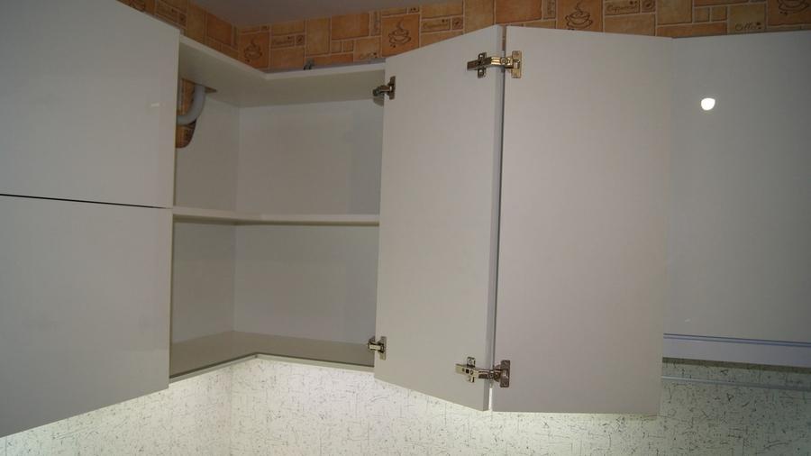 Белый кухонный гарнитур-Кухня МДФ в эмали «Модель 286»-фото8