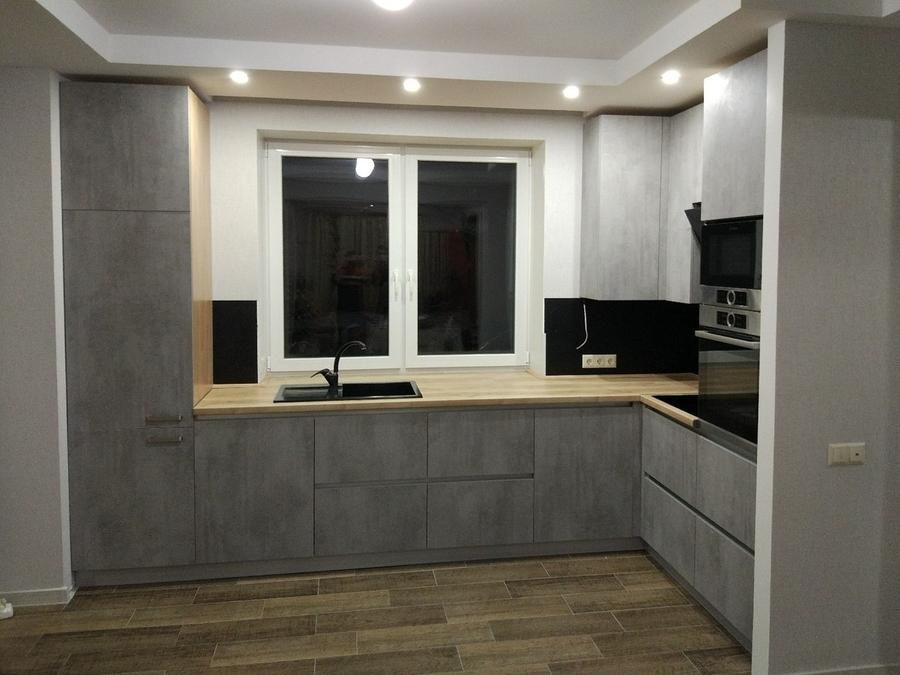 Встроенная кухня-Кухня из пластика «Модель 450»-фото1