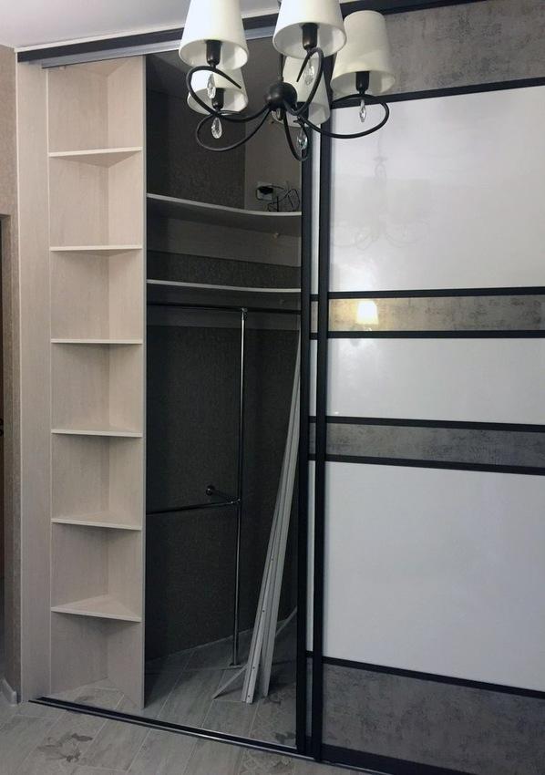 Белые шкафы-купе-Шкаф-купе из ЛДСП «Модель 371»-фото2