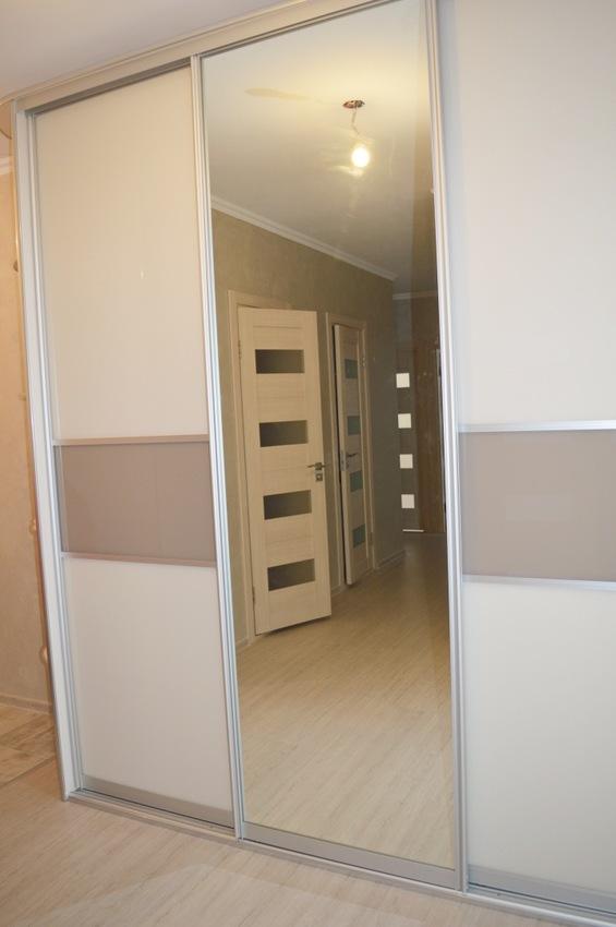 Белые шкафы-купе-Шкаф-купе с зеркалом «Модель 338»-фото2