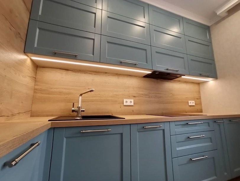 Классические кухни-Кухня МДФ в эмали «Модель 586»-фото3