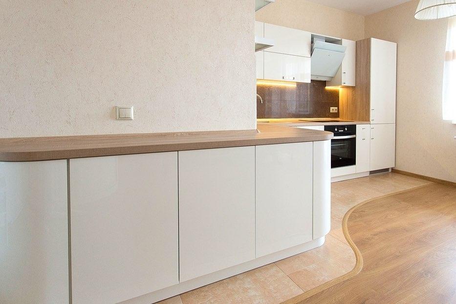Белый кухонный гарнитур-Кухня МДФ в эмали «Модель 619»-фото3