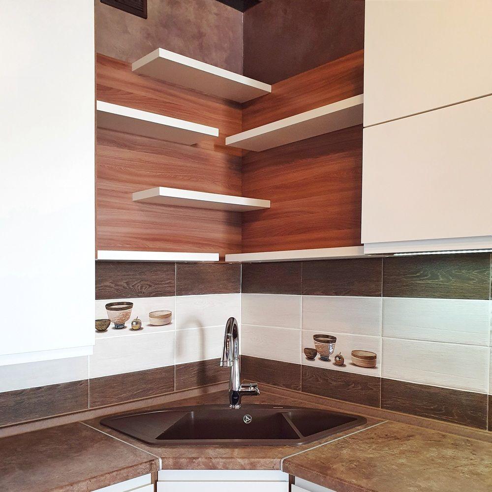 Белый кухонный гарнитур-Кухня МДФ в эмали «Модель 537»-фото6