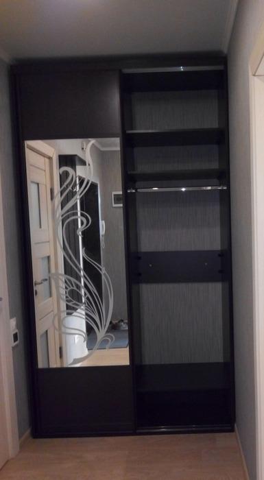 Встроенные шкафы-купе-Шкаф-купе с зеркалом «Модель 49»-фото1