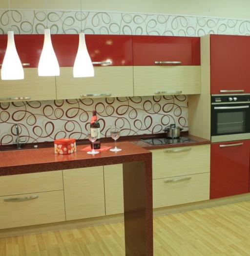 -Кухня из пластика «Модель 129»-фото14